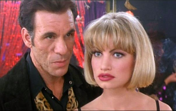 "From ""Showgirls"" 1995 (Rena with actor/singer Robert Davi)"