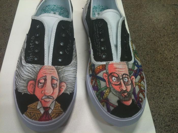 Einstein/ Steve Jobs Shoes