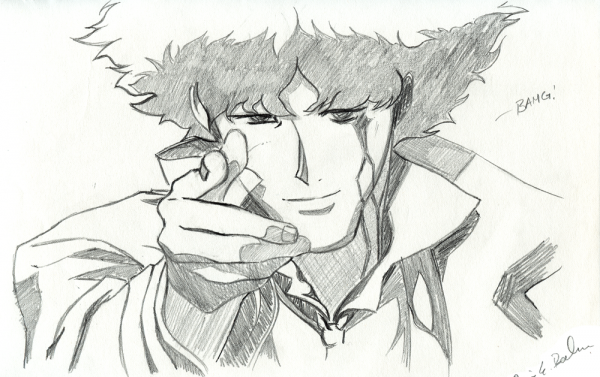 Spike from Cowboy Bebop.
