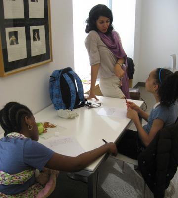 Novelist Porochista Khakpour teaches a class.