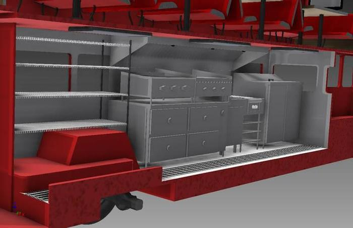 Student CAD designed kitchen. Sweet!!