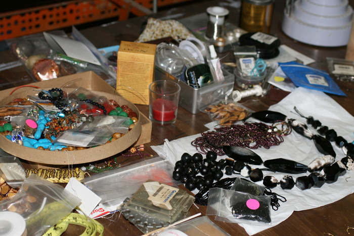 Some of the raw materials for my new collection...