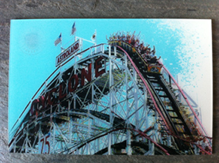 "Animating Lenticular Depthography 3-D Postcard: ""Cyclone Roller Coaster"""