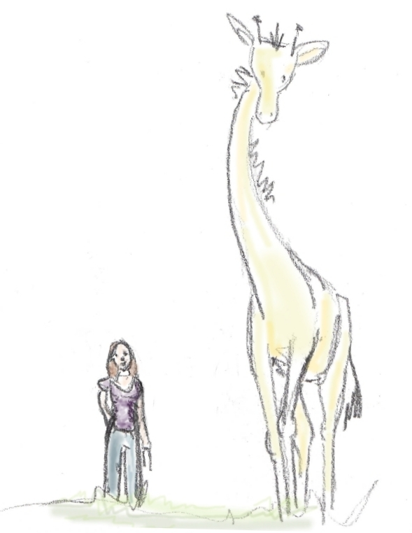 myself and Giraffe - he's a big project! - a color test