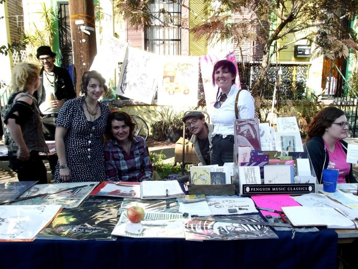 Printshop booth at The New Orleans Bookfair, 2011