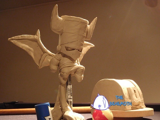 Initial clay model of the Necromancer figurine