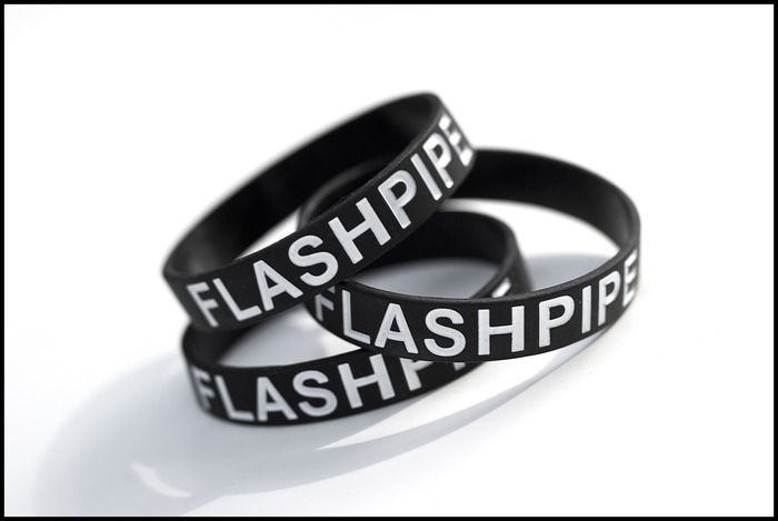 The FlashPipe wristband.   Join the revolution!  Read more about the wristband's other function below...