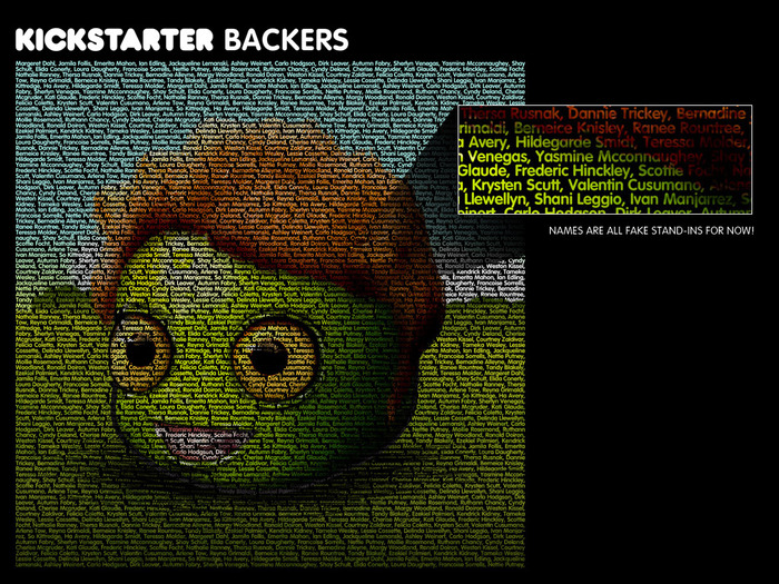 Here's what the Kickstarter Ugly will look like in the game credits.  EVERY backer's name will be included!