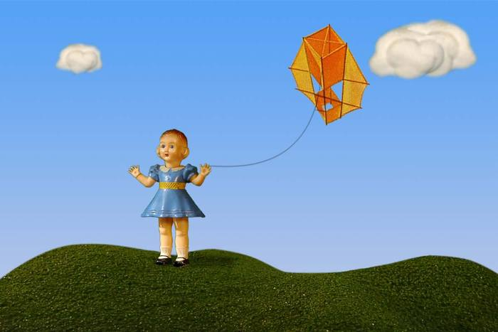 """Slatherpuss"" Print Series: ""Blue Kite Girl"""