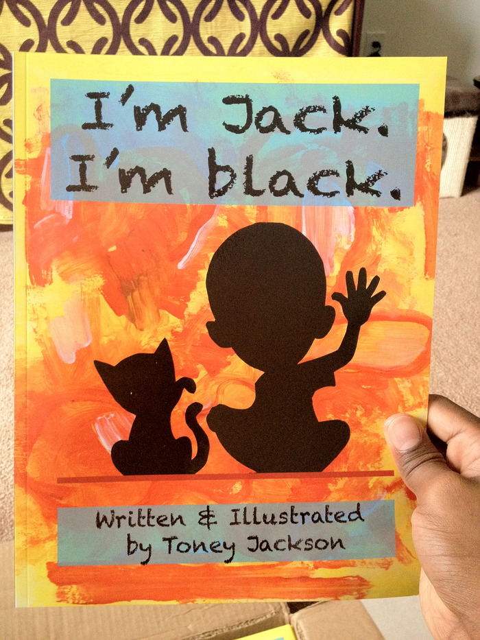 An advanced copy of 'I'm Jack. I'm black', professionally printed.