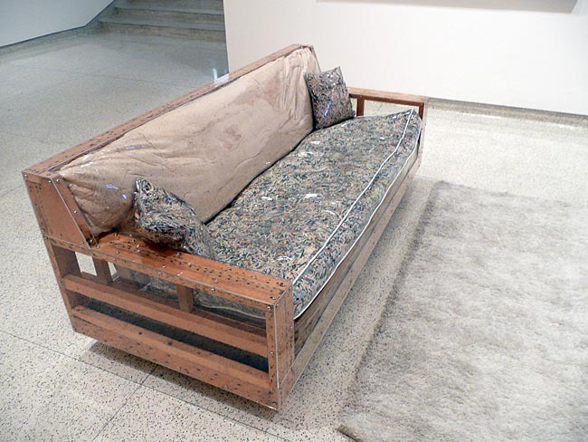 This couch designed by Jason Sherry is available if you pledge at the Glacial Benefactor reward level. It was on display at the Museum of Contemporary Art San Diego