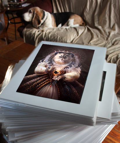 "Example of the 11""x14"" prints in packaging.  Rewards #8 & #9"