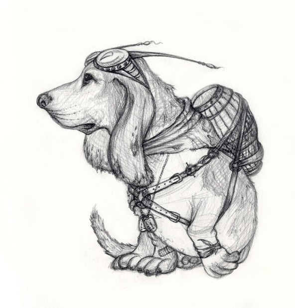 Example of animal sketch.  Reward # 8.