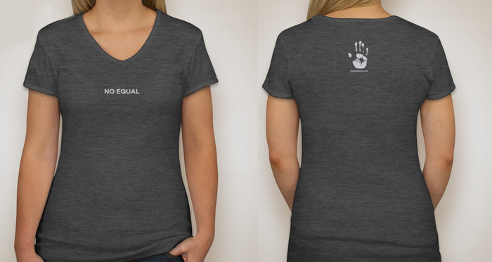 WOMEN'S V-NECK T (GREY)