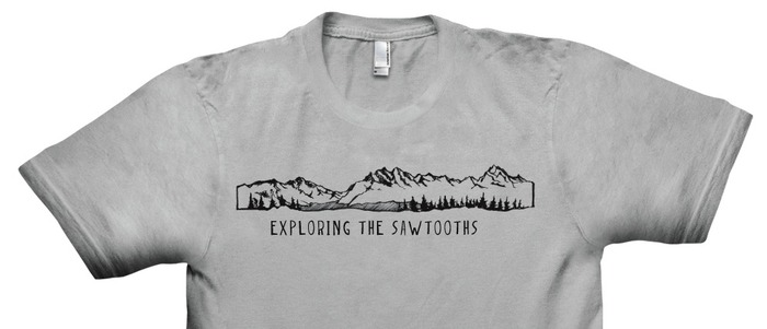 Custom designed Exploring the Sawtooths T-shirt