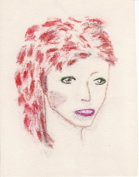 Bowie Drawing by Ann circa 1973
