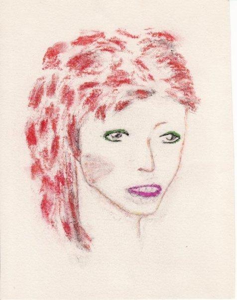 Bowie Drawing by Ann circa 1973