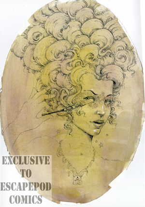1st ever printing of this wonderful portrait of Stoya by Molly Crabapple