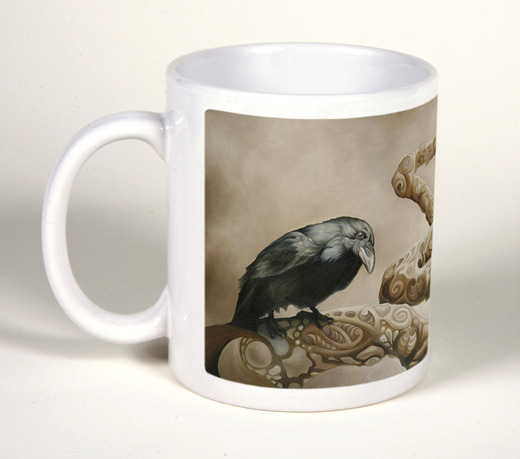 "Coffee Mug with ""Curious""."