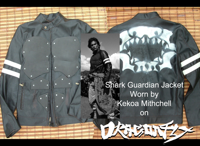 "Screen used Riding Jacket.  Worn by Kekoa Mitchell.  ""Kamekona""  The Shark Guardian"