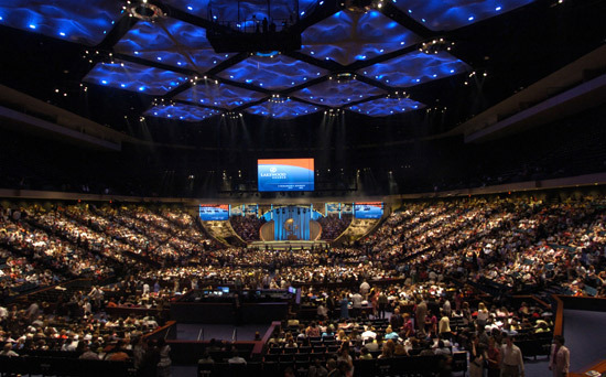 Joel Osteen's Lakewood Church in Houston, Texas