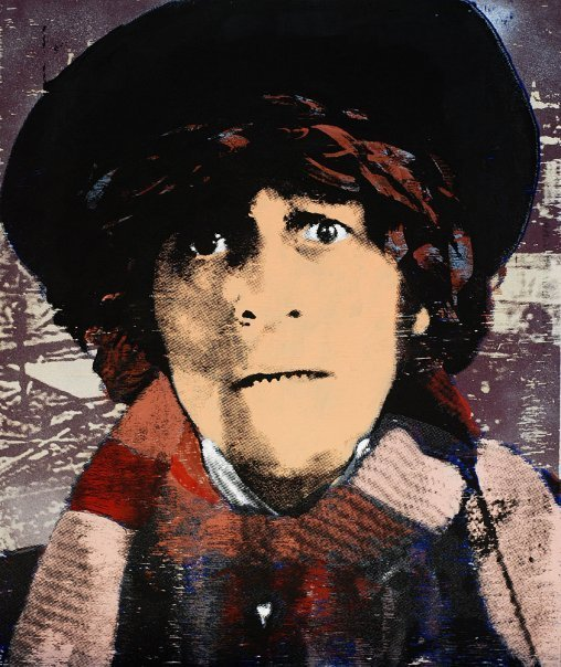 Tom Baker - mixed media on wood