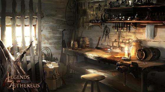 Concept Art 3 - Blacksmiths Shop