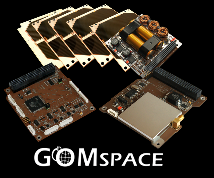 Some of the GOMSpace hardware that will be inlcuded in the ArduSat