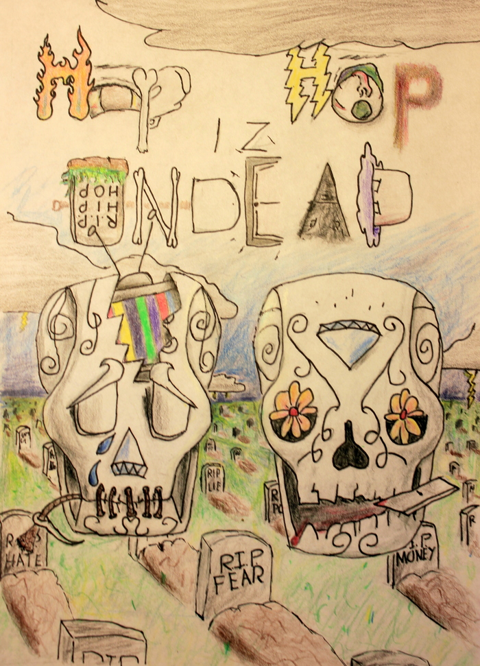Hip Hop iZ Undead (final draft CD cover)