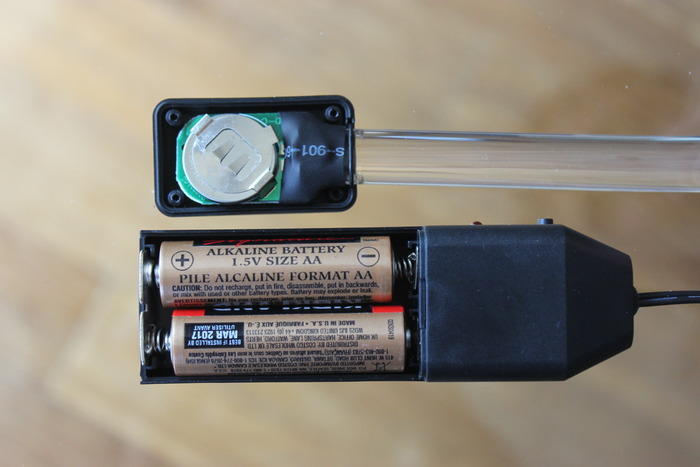 Final Prototype vs. Original Prototype - battery supply and housing - patent pending