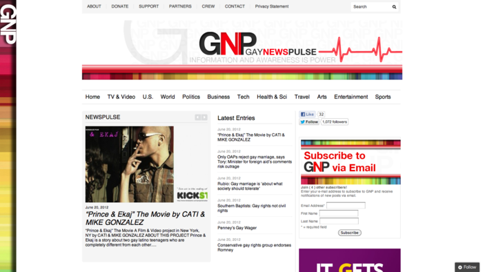 """Prince & Ekaj"" on Gay News Pulse"