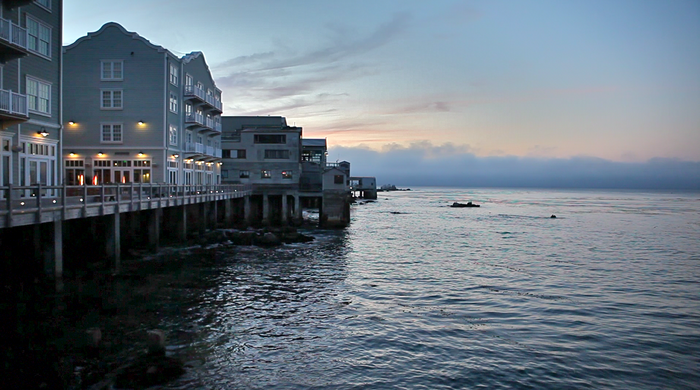 ON LOCATION | a recent Cannery Row sunset