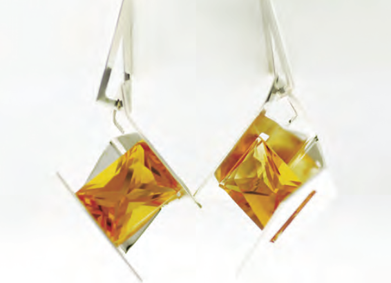 Firework Earrings with Citrine