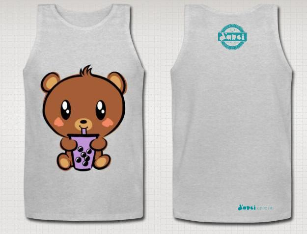 Grey Boba Baby Bear Tank
