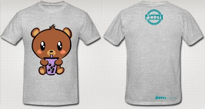 Grey Boba Baby Bear T-shirt