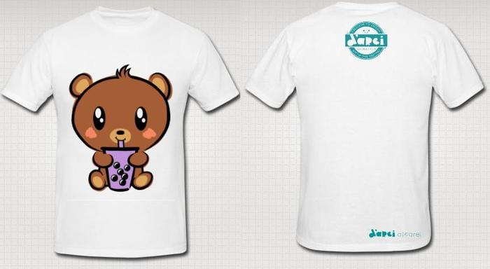 White Boba Baby Bear T-shirt