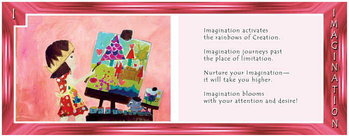 ALPHABET LIVING: I is for IMAGINATION—kick it into gear!