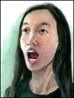Here's and example of a watercolor portrait