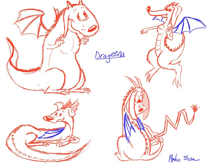 The Drageena - Development Sketches