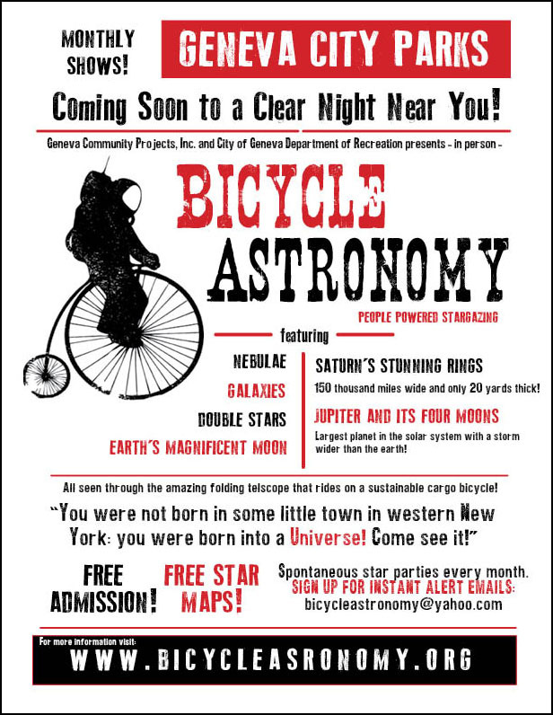 A mock-up of the retro show style Bicycle Astronomy print!