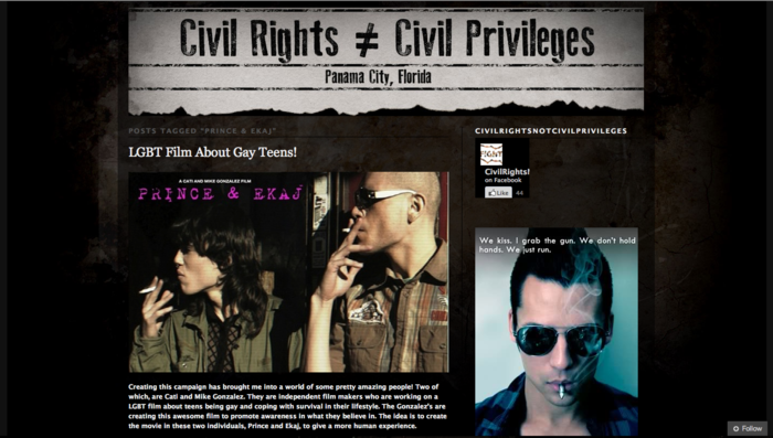 "Civil Rights & Civil Privileges supports ""Prince & Ekaj"""