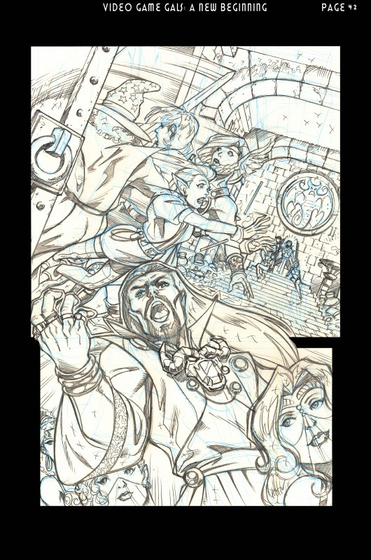 Another penciled page from the graphic novel