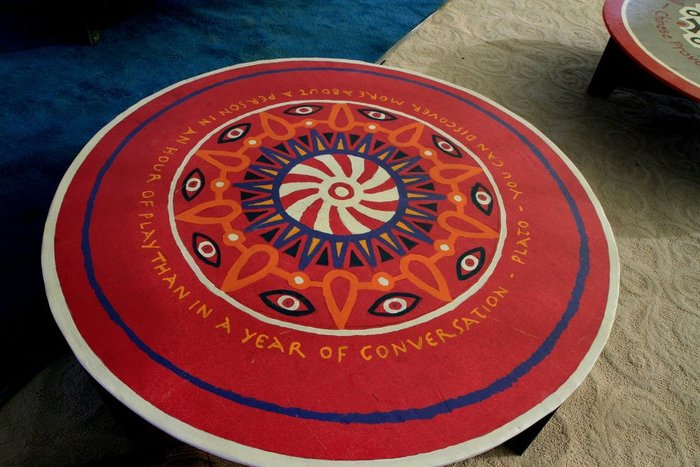 Our Mandala Tables for the Bhakti Visionary Tea Lounge