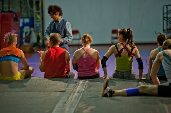 STREB Company rehearsal, photo by Joel Bischoff