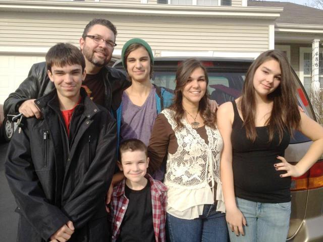The Thompson Tribe in 2012! (l-r Jordan, John, Jesse, Wesley, Michelle, Trinity)