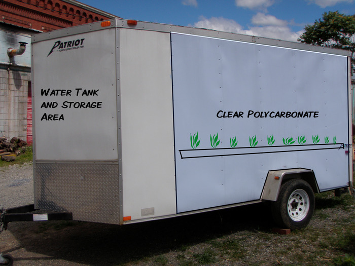 This is the actual trailer with a diagram illustrating the approximate exterior appearance.