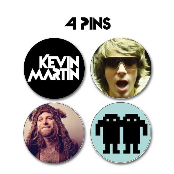 4 UNIQUE KEVIN MARTIN PINS - Increase your pledge an extra $5 to add this to your reward