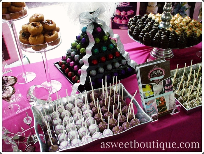 Our donuts, cake pops, bon bons, and cupcakes!