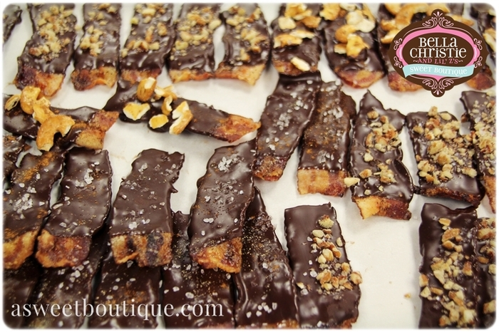 Our infamous chocolate covered bacon!