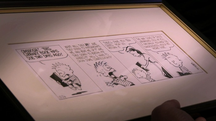 An original Calvin & Hobbes strip